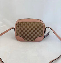 Load image into Gallery viewer, Gucci Camera Bree Gg Guccissima Beige Pink Leather Cross Body Bag