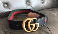 Load image into Gallery viewer, Gucci GG Webbing Belt