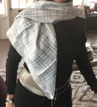 Load image into Gallery viewer, Burberry Light Blue Nova Check Scarf