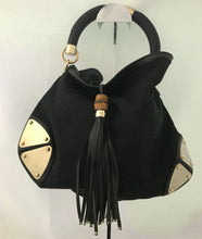 Load image into Gallery viewer, Gucci Indy Black Leather Hobo Bag