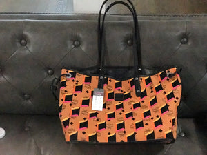 MCM Large Reversible Leather Tote