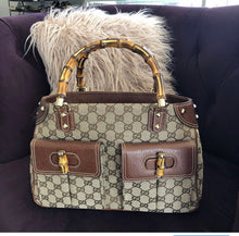 Load image into Gallery viewer, Gucci Bamboo GG Canvas Handbag
