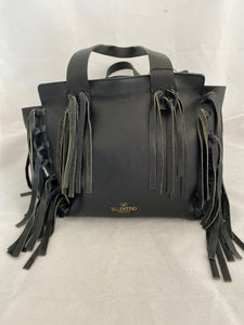 Valentino Garavani Leather Fringe Tote Bag