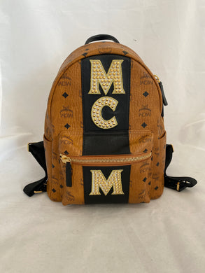 MCM Stark Stripe Backpack