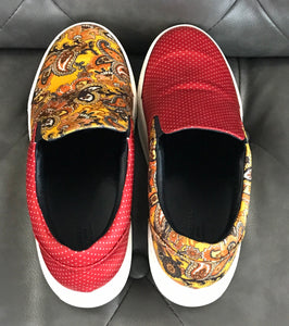 Balenciaga Multi-Color Slip on Sneakers