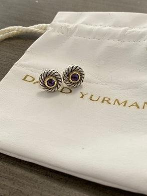 David Yurman Amethyst Earrings