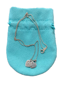 Tiffany Double Tag Heart Necklace