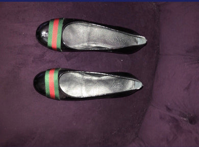 Gucci Leather Web Flats
