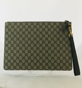 Gucci GG Supreme Bee Portfolio Clutch