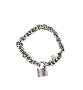Tiffany & co. Sterling Silver 1837 Padlock Bracelet