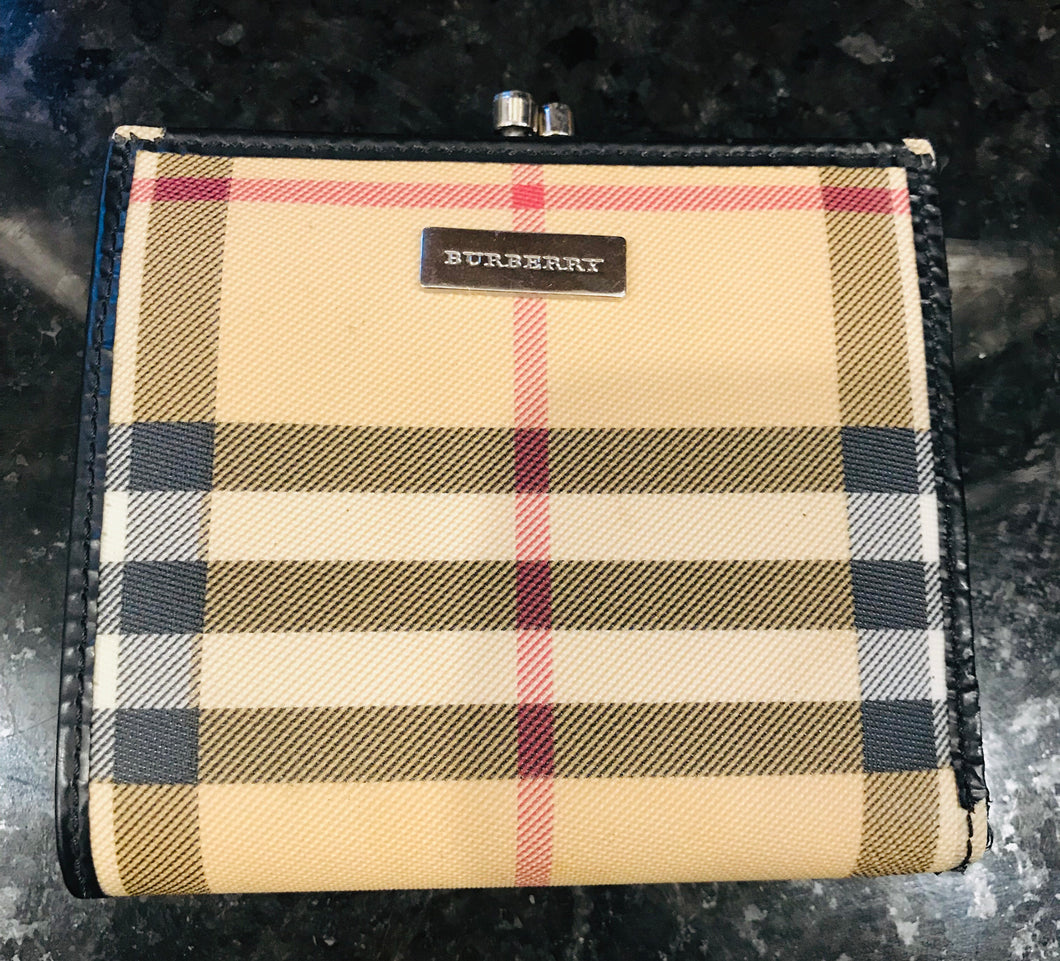 Burberry Check Clasp Wallet