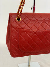 Load image into Gallery viewer, Chanel Red Lambskin Medium Flap