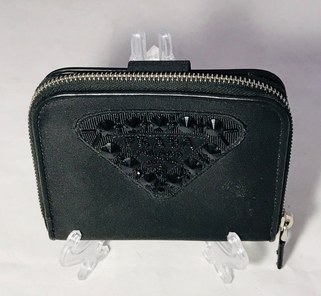 Prada Black Snap Wallet