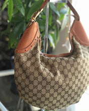 Load image into Gallery viewer, Gucci GG Canvas & Leather Buckle Hobo