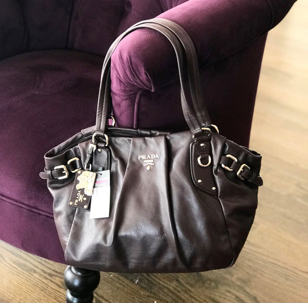 Prada Prugna Shopping Tote Bag