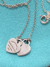 Load image into Gallery viewer, Tiffany Double Tag Heart Necklace