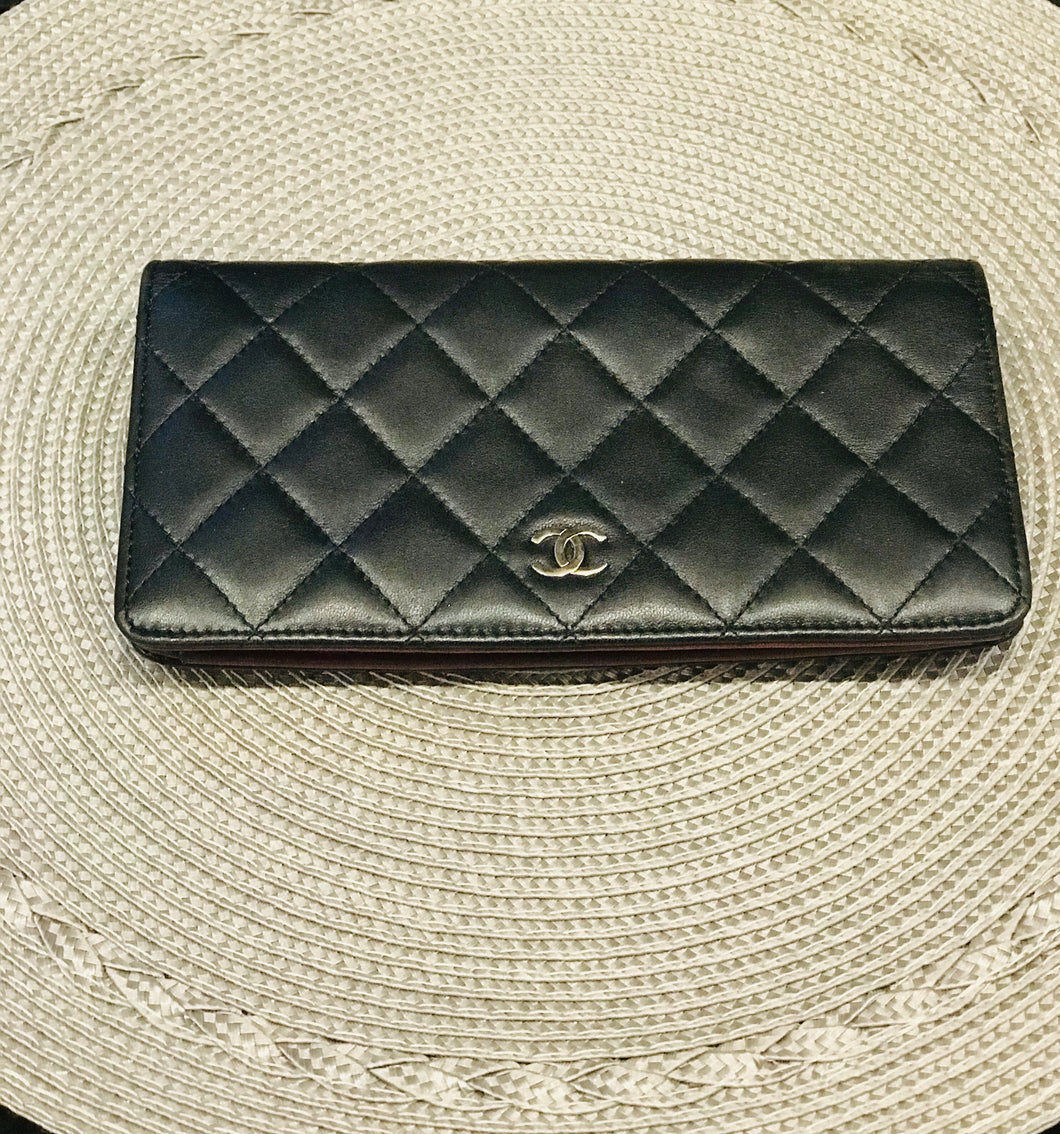 Chanel Quilted L-Yen Wallet