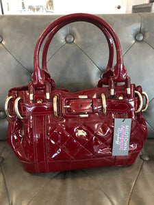 Burberry Patent Quilted Beaton Tote