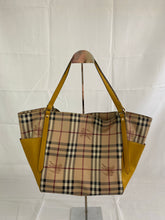Load image into Gallery viewer, Burberry Haymarket Check Yellow Bag