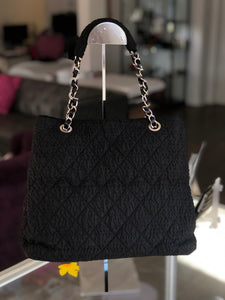 Chanel Timeless Tote Textured Travel Voyage Nylon
