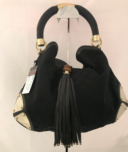Gucci Indy Black Leather Hobo Bag