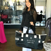 Load image into Gallery viewer, Gucci Coated Canvas Large Trademark Logo Travel Tote