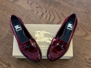 Burberry Maroon Loafers
