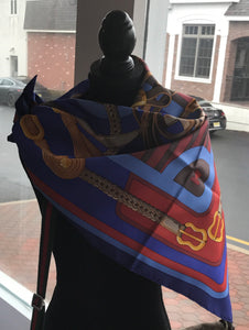 "Hermès ""Coaching"" Scarf"