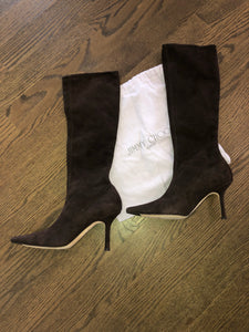 Jimmy Choo Brown Suède Boots
