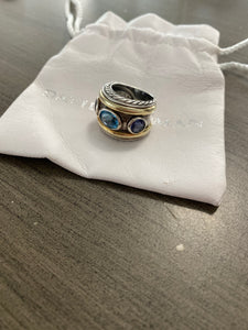 David Yurman Renaissance Topaz Cigar Band Ring