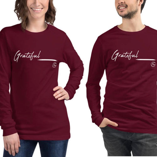 *Grateful* Long-Sleeve Unisex Tee