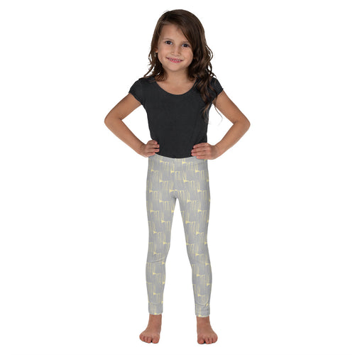 *Gray Brushstroke* Kid's Leggings