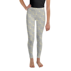 *Gray* Brushstroke Youth Leggings