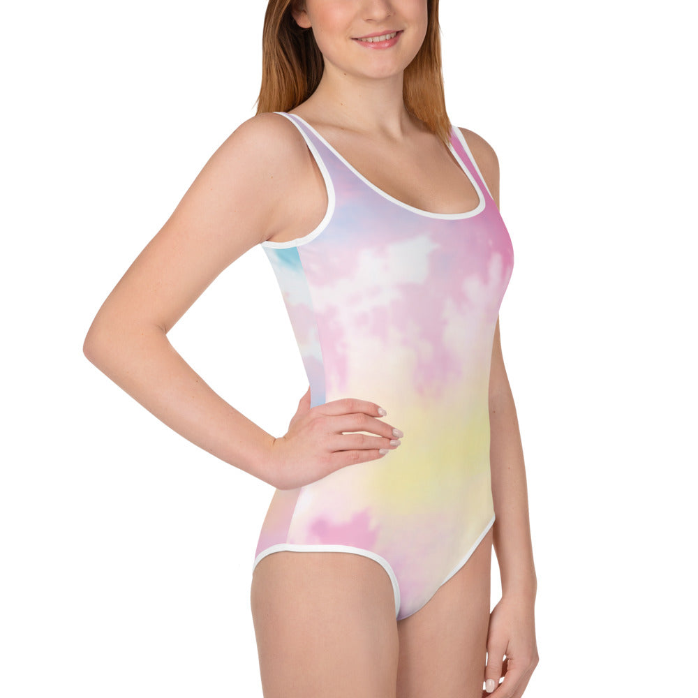 *Tie-Dyed* Design All-Over Print Youth Swimsuit