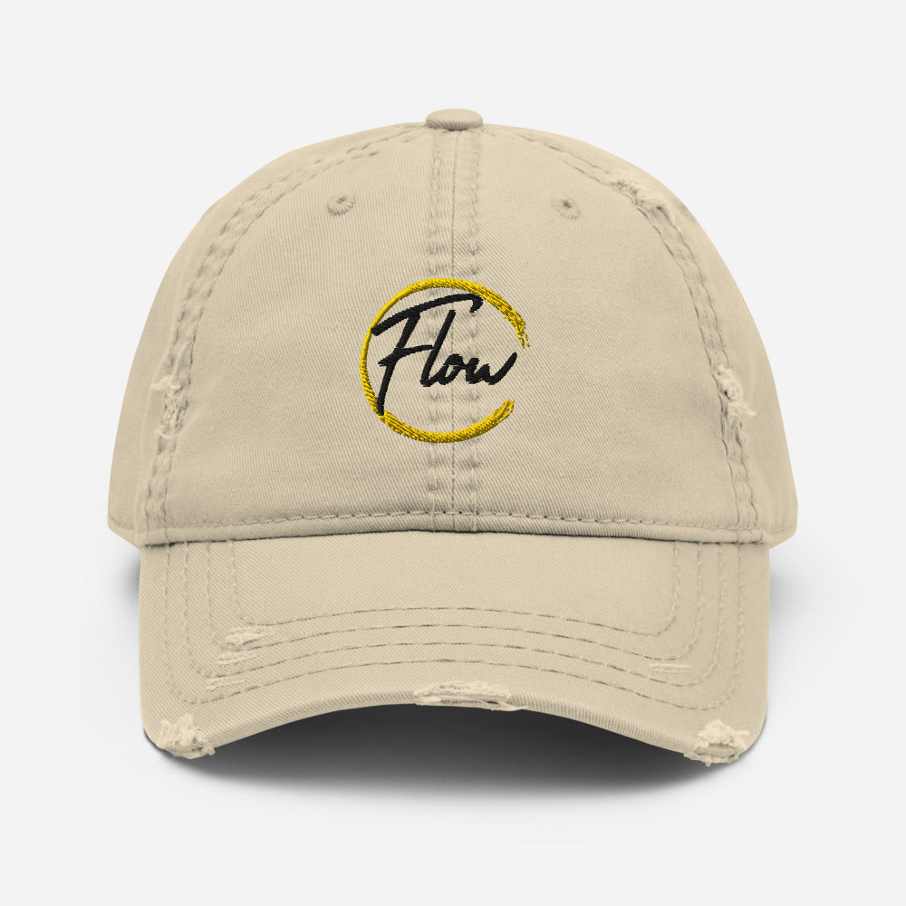 *FLOW* Logo Distressed Dad Hat
