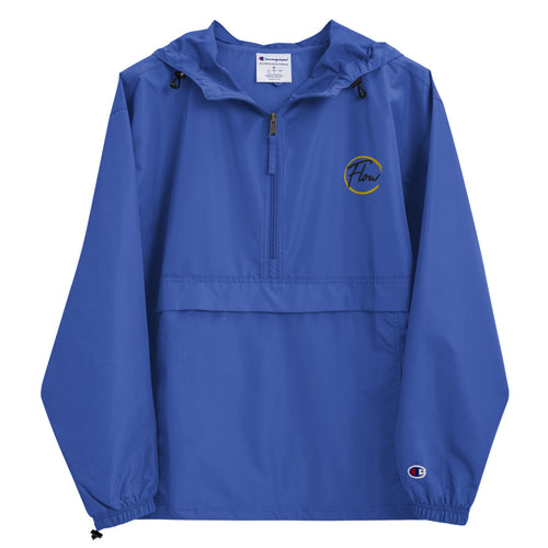 *FLOW Logo* Embroidered Champion Packable Jacket