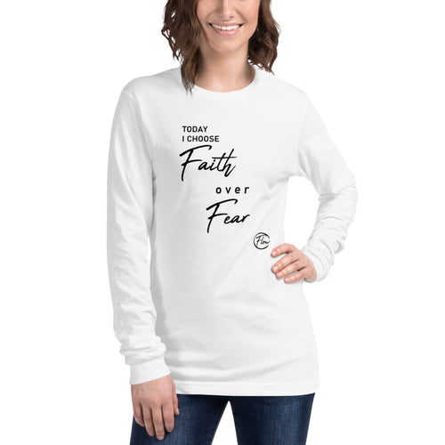 *Faith Over Fear* Ladies' Long-Sleeve Tee