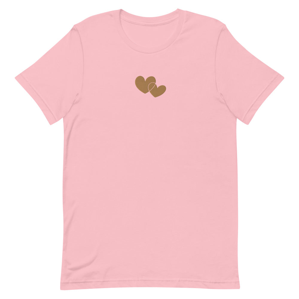 *Heart of Gold* Embroidered Short-Sleeve Unisex T-Shirt