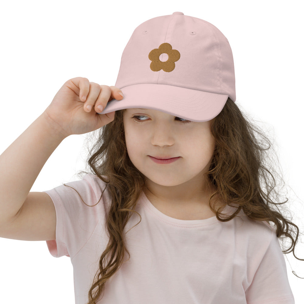*Golden Flower* Embroidered Youth baseball cap
