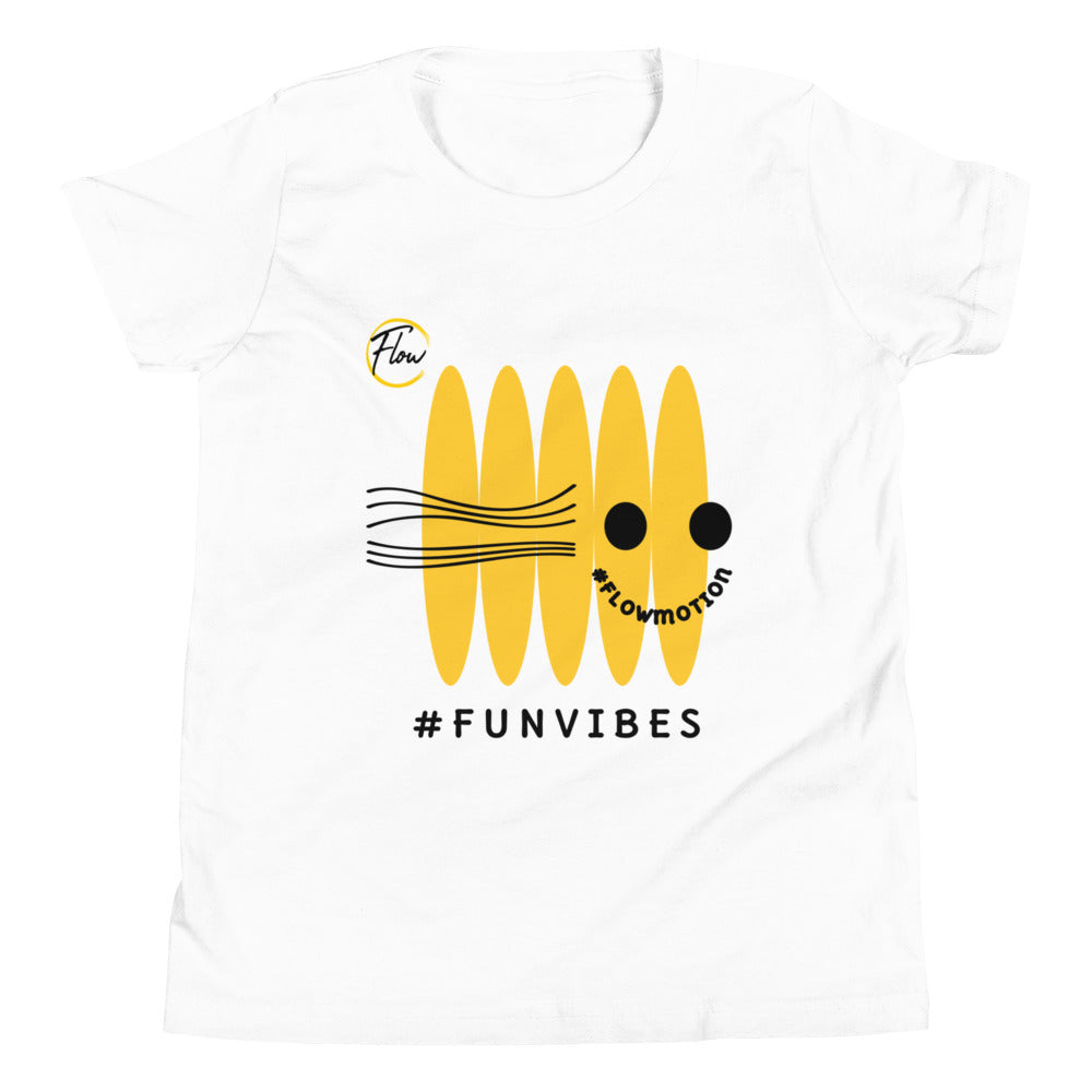 #FlowMotion #FunVibes Youth Short Sleeve T-Shirt