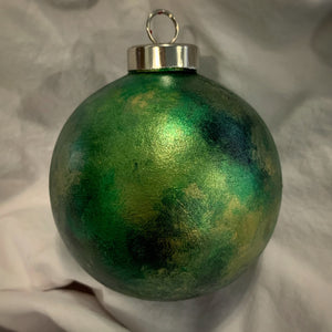 Holiday Ornament Greens/Gold (ball)