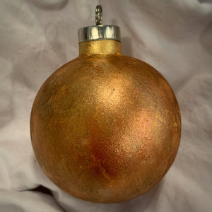 Holiday Ornament Bronze/Gold (ball)