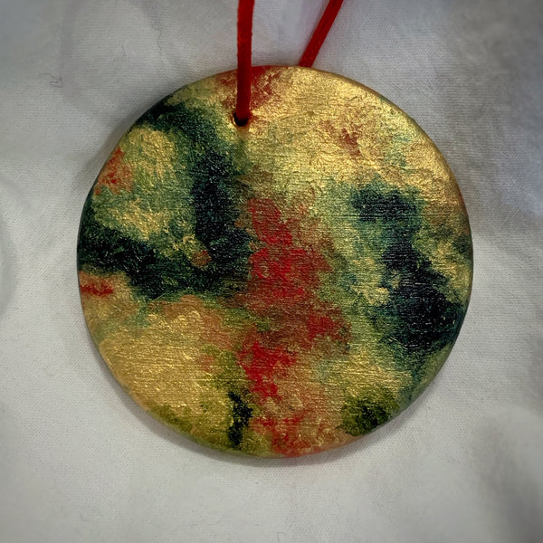 Holiday Ornament Red/Green/Gold (disc)