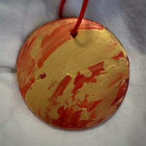 Holiday Ornament Red/Gold (disc)