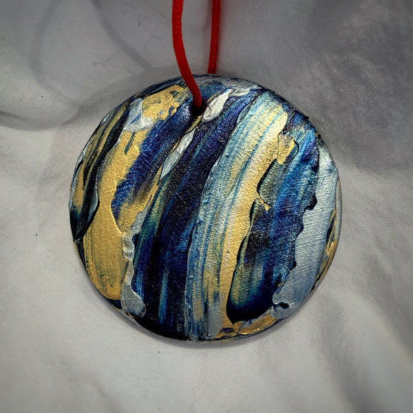Holiday Ornament Blue/Gold/Silver (disc)