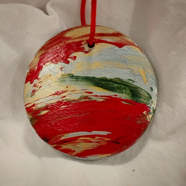 Holiday Ornament Red/Green/Gold/Silver (disc)
