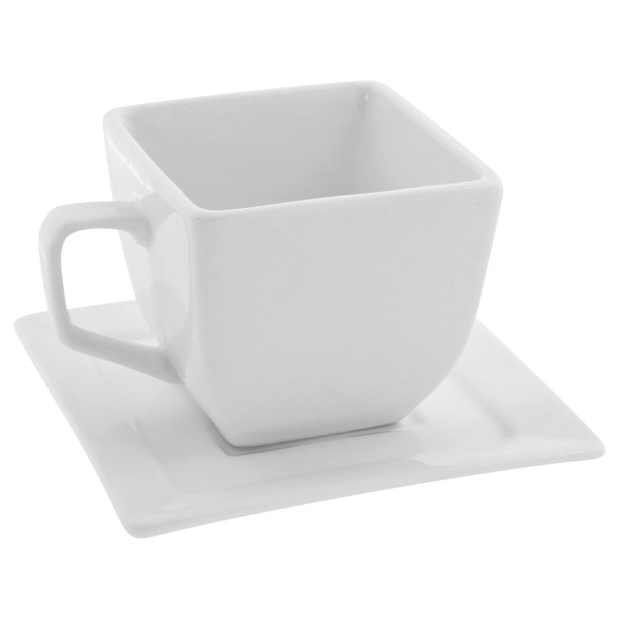 Whittier Square Flared Cup Saucer Set of 4