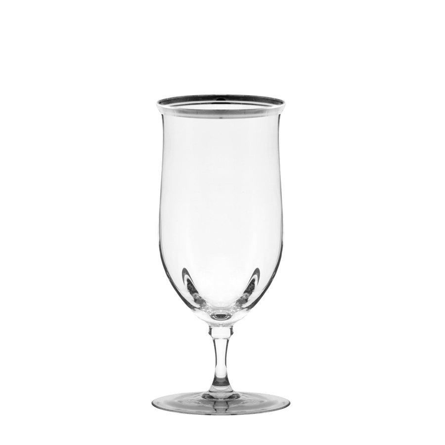 Windsor Water Goblet With Silver Band Set of 4