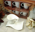 12 Piece Demitasse Cup Espresso with Biscotti Saucers