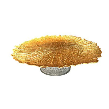 Antique Gold Cake Plate